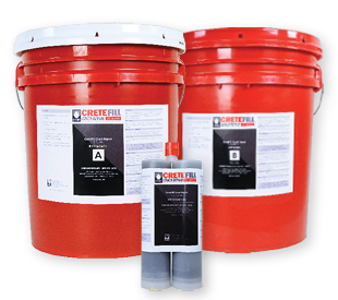 2 red 5-gallon pails (side A & side B) and 12 oz cartridge.