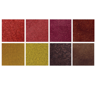 Sampling of 8 concrete dye colors ranging.