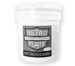 RetroGuard translucent 5-gallon pail.