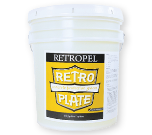 RetroPel 5-gallon pail translucent.